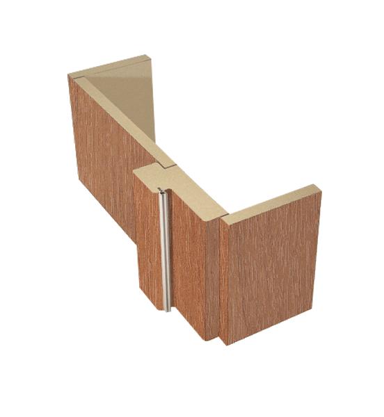 Коробка дверная обычная орех миланский